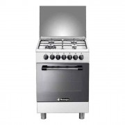 Tecnogas Cucina a gas 60x60 cm bianca, 4 fuochi a gas, forno elettrico - P664MW