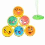 6PCS Emoji Face Slime 6cm DIY Crystal Clay Rubber Mud Intelligent Hand Gum Plasticine Toy Gift