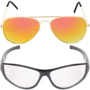 Aligatorr Combo Of 2 Aviator Unisex Sunglasses gylnd wtCRLK