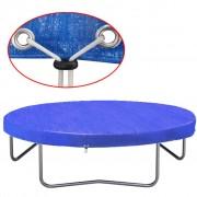 vidaXL Покривало за батут, PE, 360-367 см, 90 гр/м²