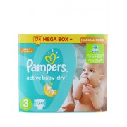 Pampers Active Baby Dry nr.3 Maxi 5-9 kg 174 buc Megabox