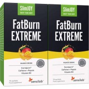 Sensilab SlimJOY FatBurn Extreme 2x Kraftvolles Getränk zur Fettverbrennung mit thermogener Wirkung für schnelles Abnehmen 30-Tage-Kur Sensilab
