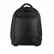 Rucsac troler cu roti metalice blocabile, Everestus, EE, poliester 1680D, negru, saculet de calatorie si eticheta bagaj incluse
