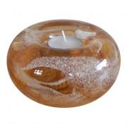 Glasreliek met waxine : Fenix Keizer Rood — medium (8x12cm)