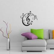 Sticker decorativ de perete Sticky, 260CKY5055, Negru