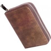 Flipkart SmartBuy Business Card Holder Luxury Leather Wallet Credit Cards ID Case/Holder for Men & Women 15 Card Holder 15 Card Holder(Set of 1, Brown)