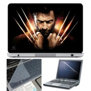 FineArts Laptop Skin 15.6 Inch With Key Guard Screen Protector - Wolverine Attack