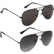 Marabous Aviator Sunglasses(Black, Black, Violet)