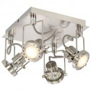 vidaXL 4-smerné bodové svetlo strieborné GU10
