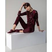 Helena Vera Shirt mit Blätterdruck merlot female 50