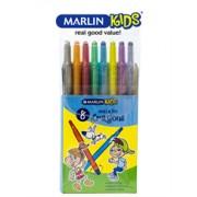 Marlin Retractable Crayons 8 Metallic Colours,