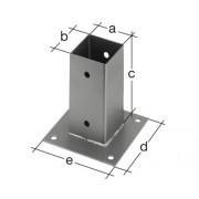 Suport stalp aplicat 101x101x150 mm, zincat, fixare in suruburi