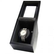 Allurez Unisex Individual reloj automático caja en acabado en negro mate