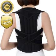Tigoof Back Posture Corrector, Adjustable Clavicle & Shoulder Support Brace For Men & Women Posture Brace to Improve Bad Posture, Thoracic Kyphosis, Shoulder Alignment, Upper Back Pain Relie Size M