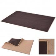 vidaXL Picknickfilt beige och brun 150x200 cm