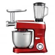 Кухненски робот Royalty Line PKM2100BG, 2100W Max, 7.5 литра, Месомелачка и Блендер, 3 бъркалки, 6 степени+Pulse, Червен