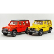 G-Power SUV Automobile Miniatures(2-Combo Offer) (Pull Back Toy Car) Random Color (Set of 2) (Yellow-Orange)