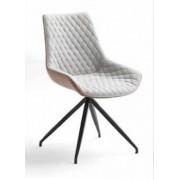 items-france SAN ANTONIO - Lot de 2 chaises pivotantes tissu 43x53/92/44cm