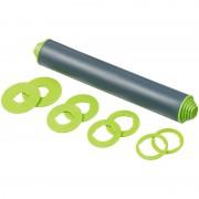 Rosenstein & Söhne Höhenverstellbarer Teigroller mit Anti-Haft-Effekt, BPA-frei, 30 cm