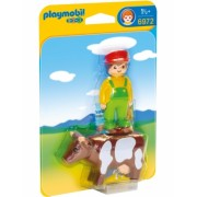 1.2.3 Fermier Cu Vacuta Playmobil