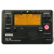 Korg TM50BK Instrument Tuner and Metronome Black