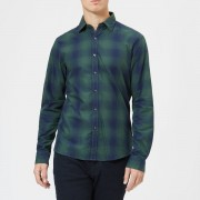 Michael Kors Men's Giant Faded Plaid Shirt - Green - M - Green