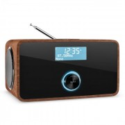 DABStep DAB/DAB+ Digitalradio Bluetooth UKW RDS Wecker Walnuss