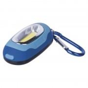 EMOS LED přívěšek na klíče s karabinkou - modrá P3387