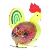 Alcoa Prime Retro Jumping Cock Clockwork Metal Tin Toy Collectible Gift Wind Up To Jump