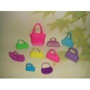 Alcoa Prime 10 Assorted Doll Handbag Girl Accessories Kids Toys Gift for Barbie dolls