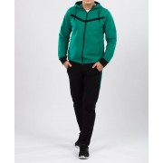 Trening barbati hoodie design verde si negru 50