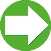 Shoppartners 25x Accent pijl sticker groen