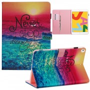 Pattern Printing Leather Wallet Stand Tablet Case for iPad 10.2 (2019) - Never Stop Dreaming
