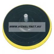 Gumitányér fúrógéphez tépõzáras szivacsos 125 mm