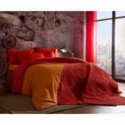Lenjerie de pat 2 persoane Tac Colorful portocaliu 100 bumbac ranforce 4 piese