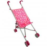 Coche paragua para muñecas MRS toys-rosado con multiples colores