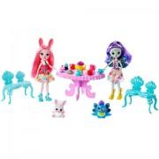 Set de joaca Bree Bunny si Patter Peacock EnchanTimals - Petrecerea cu ceai