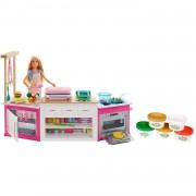 Barbie Quiero Ser Superchef Cocina Con Accesorios Y Muñeca Mattel