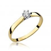 Biżuteria SAXO 14K Pierścionek z brylantem 0,10ct W-222 Złoty RATY 0% | GRATIS WYSYŁKA | GRATIS ZWROT DO 1 ROKU | 100% ORYGINAŁ!!