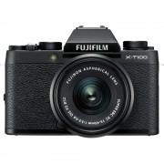Fujifilm X-T100 Aparat Foto Mirrorless 24MP APSC 4K Kit cu Obiectiv 15-45mm f3.5-5.6 OIS PZ Negru