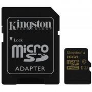 Cartão de Memória MicroSDHC Kingston Gold UHS-I U3 SDCG/16GB - 16GB