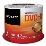 DVD-R, Sony 50pcs 16x, spindle (50DMR47SP)