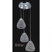 IIDSA Lampara Colgante 3 Luces Leds Cristal Diamante O26-4