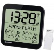 Bresser MyTime Meteotime LCD weer-wandklok - Zwart