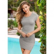 Ruched T Shirt Dress Dresses - Grey