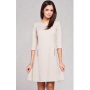 Sukienka M145 (beżowy)