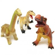 """BOLEY Monster (3-Pack) JUMBO 12"""" Dinosaur Set - Great For Toddler 1-3 Years - Dinosaur Toy Playset Great as Kids Dinosaurs, Dinosaur Party Favors, and Dinosaur Party Supplies"""