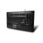 Adesso Compact 1U Design 2-Button Touchpad PS/2 Keyboard for Windows (ACK-730PB)