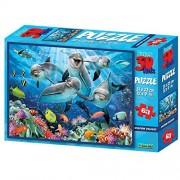 Prime 3D Howard Robinson Dolphin Delight Super 3D Puzzle (63 Pieces)