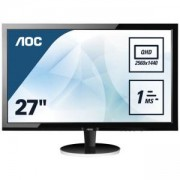 Монитор AOC Q2778VQE 27 инча LCD LED, D-Sub, DVI, HDMI, Displayport, WQHD resolution, Черен, 12277